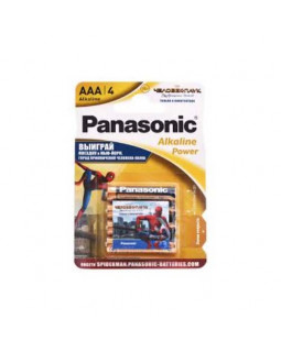 Батарейка Panasonic ALKALINE POWER (AAA) BLI 4 Power Rangers
